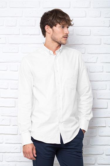 Рубашка с длинным рукавом мужская модель POPLIN