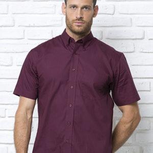 Рубашка с коротким рукавом модель POPLIN