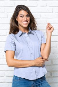 Рубашка с коротким рукавом женская модель OXFORD